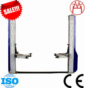 Two Column Auto Hoist Base Plate Car Lift CE ISO9001 (DTPF709E) pictures & photos