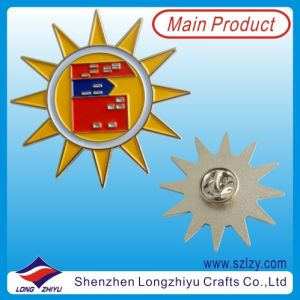 Sun Shaped Metal Badges/Pin Button with Silver Plated for School and University pictures & photos