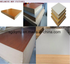 18mm White Melamine MDF Board for Furniture Materials pictures & photos