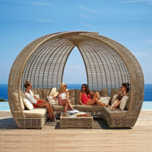 2017 Personality Outdoor Round Dome Sofa Rattan Sofa S205# pictures & photos