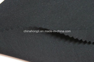 R/Sp 91/9, 290GSM, Black Interlock Knitting Fabric with Good Handfeel pictures & photos