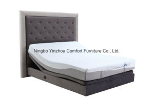 Massage Adjustable Bed with Memory Foam Mattress pictures & photos