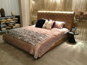 Genuine Leather Bedroom Furniture pictures & photos