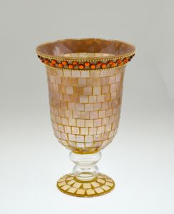 Decorated Glass Mosaic Candle Holder pictures & photos