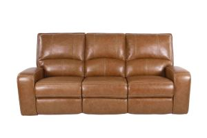 Tri-Tone Leather Traditional Reclining Corner Sofa pictures & photos