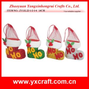 Christmas Decoration (ZY13L22-1-2-3-4 14CM) Christmas Hobby Custom Shoe Manufacturers pictures & photos