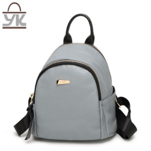 Direct Factory PU Leather Fashion Lady Backpack pictures & photos