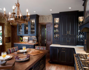 Solid Wood Kitchen Cabinet Wooden Luxury Home Bar pictures & photos