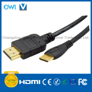 Black High Speed HDMI 19pin Plug-Mini HDMI Plug Cable for HDTV/4K/3D/Internet pictures & photos