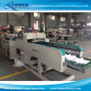 Hot Cutting Plastic T-Shirt Bag Making Machine pictures & photos