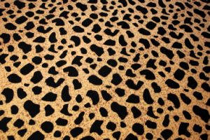 Hot Sale Animal Design Flock on The Fabric pictures & photos