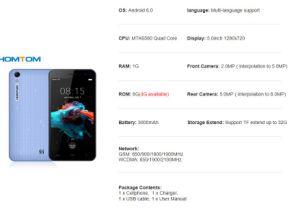 Original Smartphone Homtom Ht16 Smart Phone 3000mAh 3G WCDMA Cellphone pictures & photos