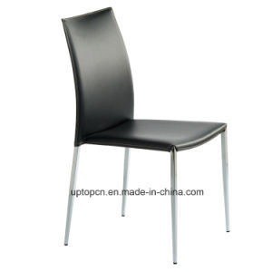 Metal Food Court Chair Leather (SP-LC222) pictures & photos