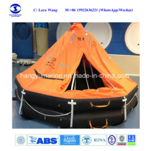 Hot Sale Solas Approved Cheap Davit Lunched Inflatable Life Raft pictures & photos