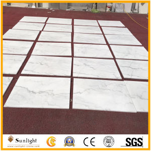 China Cheap Guangxi White Marble Stone Floor Tiles for Flooring pictures & photos