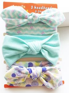 Wholesale Fashion Baby Hair Accessories Ribbon Bowknot Head Band Cotton Hair Band Hair Ornaments pictures & photos