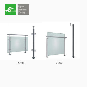 Modern Design Stainless Steel Interior Stair Tempered Glass Railing pictures & photos