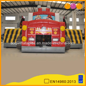 Hot Sale Slide and Bouncer Fire Truck Inflatable Combo (AQ01416) pictures & photos