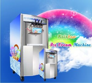 Commercial Rainbow System Ice Cream Maker Ice Cream Making Machine Soft Serve pictures & photos