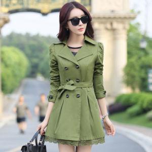 Fashion Women Coat Windbreaker Trench Coat pictures & photos