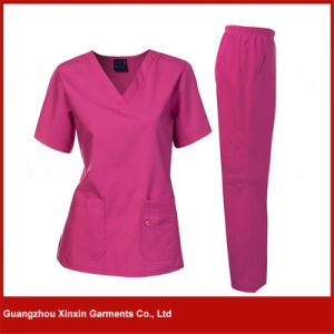 OEM 100%Cotton Hospital Scrubs for Women Men Medical Uniform (H12) pictures & photos