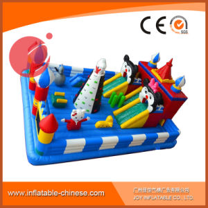 Inflatable Jumping Moonwalk Toy Jumping Castle for Amusement Park (T6-002) pictures & photos