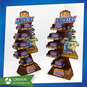 Supermarket Promotion Snickers Paper Display Cardboard Display pictures & photos
