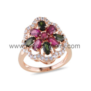 Flower Design 925 Silver Ring