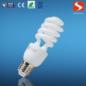 Half Spiral 15W Energy Saving Lamp CFL Bulbs pictures & photos