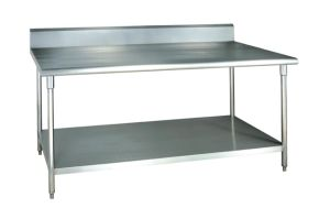 201/304 Stainless Steel Commercial Work Table with Backsplash (CZ120TK) pictures & photos