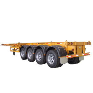 Cimc 40FT Four Axle Skeleton Semi-Trailer with Twist Locks Truck Chassis pictures & photos