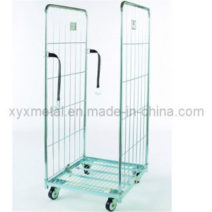 Double Sides Convenient Folding Metal Wire Luggage Rolling Trolley Cart pictures & photos