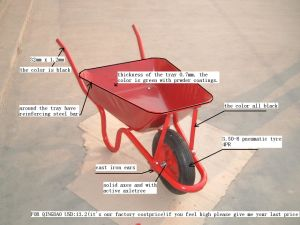 Heavy Duty Construction Wheel Barrow 3800 pictures & photos