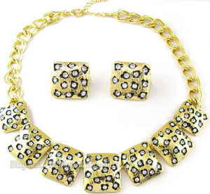 Fashion Jewelry Set (Necklace+Earrings) (BGNC080708A-7)
