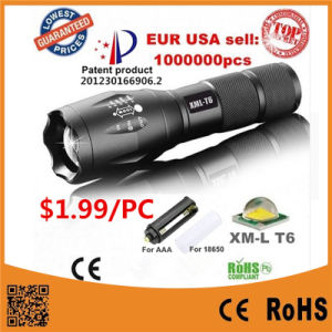 Most Powerful Brightest LED Flashlight Torch with Zoom Focus LED Flashlight pictures & photos
