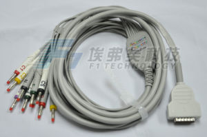 Ge One-Piece 10ld EKG/ECG Cable pictures & photos