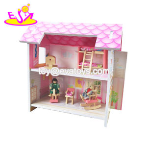 New Hottest 2-Layer Children Miniatures Wooden Mini Dollhouse with Furniture W06A258 pictures & photos