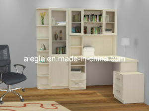 Study Room Furniture Set Wooden Furniture Bookcase/Bookshelf with PC Table (Forever young) (SG1209-6)