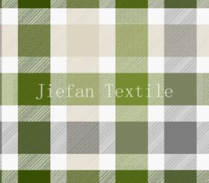 Green Plaid Style of Bed Sheet Fabric