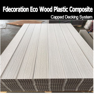 Factory Price White Capped WPC Flooring WPC Terrace Decking