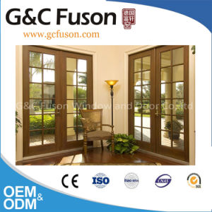 Wood Grain Color Aluminum Frame Thermal-Break Aluminum Door pictures & photos
