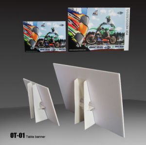 Desktop Promition Poster Banner Stand for Advertising (OT-01) pictures & photos