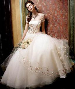 Elegant Embroidered Wedding Dress (Angela-238)