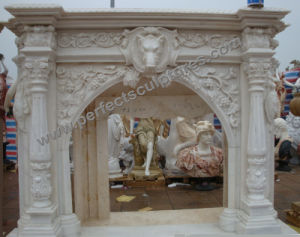 Marble Fireplace for Home Stone Carving (QY-LS388) pictures & photos