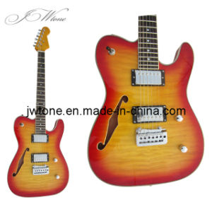 Flamed Maple Top F Hole Custom Tele Electric Guitar pictures & photos