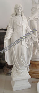Carved Stone Carving Marble Jesus Sculpture for Religious Statue (SY-X1420) pictures & photos
