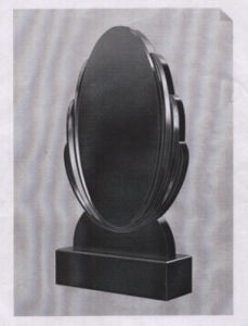 Russian Style Polished Shanxi Black Granite Monument Tombstone pictures & photos