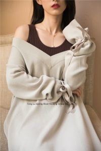 Half Fishmen Rib Womens Long Oversized Sweater pictures & photos