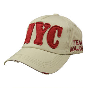 100% Cotton Embroidered Baseball Running Cap (BC002CH09)