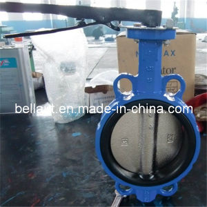 Double Flange Handle Butterfly Valve